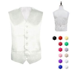 "Mens Formal Wedding Waistcoat Size 36""- 48"" Chest Available S M L XL XXL XXXL"