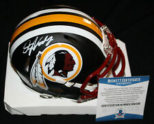 Dwayne Haskins signed Matte Black Mini Helmet, Washington Redskins, Beckett BAS