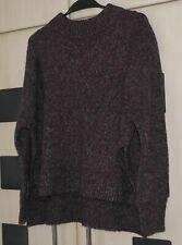 COS Purple & Grey Fleck Jumper Size S UK 10 - 12.  Good Condition