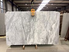 Fensterbank Sohlbank weiss marmoriert 100x30x2cm poliert Marmorplatte Abdeckung
