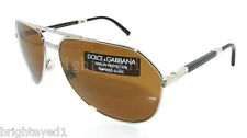 Authentic DOLCE & GABBANA Polarized Folding Aviator Sunglass DG 2106K - 1028/57