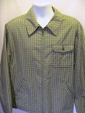 J Crew Full Zipper Green Check Oarsman Shirt Jacket Size Large