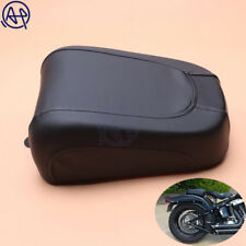 Motorcycle Black Pu Leather Rear Pillion Passenger Seat Fit For Harley FLSTSB