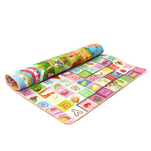 Reversible Kids Activity Mat Baby Children Crawling Care Play Mat Foam Rug 5mm