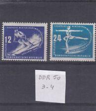 Allemagne RDA 1950 3-4 ** Championnats sportifs hiver Schierke skieur patineuse