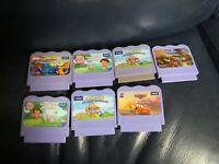 Lot of 7 Vtech V Smile Learning System Games Spiderman Dora Ratatouille