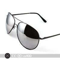 838382639ab6 Extra Large Mirrored Oversized Aviator Gunmetal Sunglasses Free Case XL S077