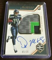 2019 PANINI LIMITED DK METCALF ON Card AUTO 4 Color PATCH RPA 5/25 Autograph RC