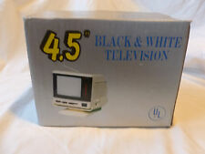 """Vintage 4.5"""" B&W Portable Micro TV Under Counter Mount Car Boat  New in Box"""