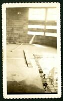 vintage photo interesting abstract interior under construction sunlight 1948