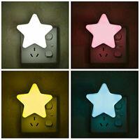 2x Baby LED Night Light Lamp Star Shape Home Room Party Desk Wall Decor US Plug