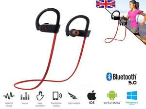 Sweatproof Wireless Bluetooth Earphones Headphones Sport Gym For Samsung iPhone