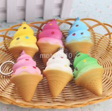 Fashion Soft Kawaii Squishy Squishies Mini Ice Cream Keychain Charm Strap UK