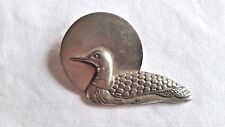 DUCK/GOOSE PIN BROOCH SEAGULL PEWTER CANADA 1990