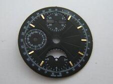 CADRAN 30MM NOIR AVEC INDEX COULEUR OR NEUVES POUR ETA VALJOUX 7751