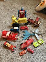 Vintage Toy Lot Hubley Tonka Midgetoy Hasbro Hot Wheels Transformer Disney Tin