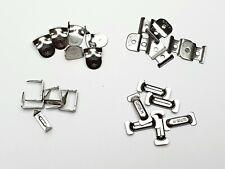 5 Set Haken und Ösen Hosenhaken Verschluß silber 9mm ohne Nähen zum Nieten