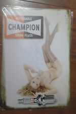 champion spark plugs metal sign MAN CAVE brand new