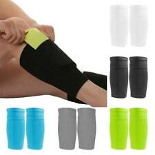 Sport Soccer Leg Shin Pads Guard Socks Football Calf Sleeves With Pocket Faddish