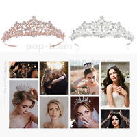 Rhinestone Tiara Birthday Party Wedding Crown Headband Bridal Hair Jewelry Event