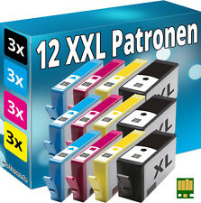 Puce 12x cartouches pour hp-364xl Deskjet 3070a 3520 3522 3524 Officejet 4620 4622