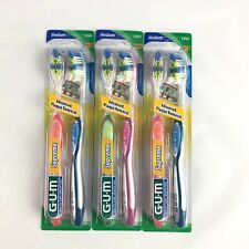 GUM Supreme Toothbrush 3 twin Pack (Lot of 3) 1396 Medium Bristles, 6 count