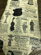 VINTAGE NEWSPAPER ADS KODAK ARTIFACTS SILK SUIT NECKTIE TIE FREE SHIPPING