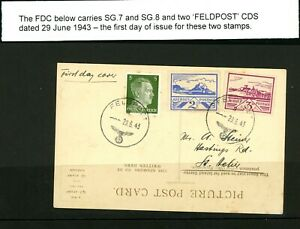 Jersey Occupation Postcard 1943 with Feldpost  Cancellation. Scarce Item  (O476)