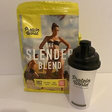 Protein World The Slender Blend Strawberry Flavour 1.8KG 45 Servings & Shaker