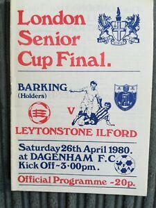 79/0 Barking vs Leytonstone / Ilford (London Senior Cup Final)