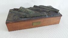 Incredible Rare SS Larchmont Side-Wheel Steamer Shipwreck Artifact Box with COA