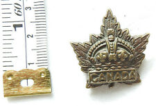 Military WW2 Canada Canadian Forces CEF Cap / Collar  Badge Pip (4479)