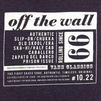 Vans T-Shirt Slimfit Off The Wall Skateboard Shoes Tee Logo Dark Purple Size XXL