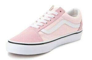 NIB - VANS Unisex 'OLD SKOOL' Blushing Pink/True White SKATE SHOES - 6.5M/8W