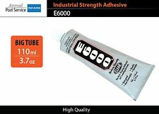 E6000 Clear Tube 3.7 oz 110 ml Industrial Strength Adhesive Glue nails jewelery