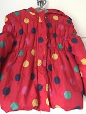 Girls coat size 3-4 years Red Spotty Puffer Coat With Hood George J58