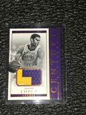 BROOK LOPEZ - GAME WORN PATCH - Lakers - GOLD /10 - National Treasures 2017-18