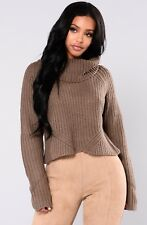 "NWT ""Back at it"" Turtleneck sweater from Fashion Nova Size Small"