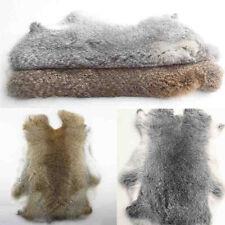 2pcs 100% Genuine Natural Rabbit Fur Skin Tanned Leather Hides Craft Pelt  Decor