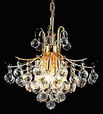 "Palace Contour 6 Light 16"" Crystal Chandelier Light Gold- Precio Mayorista"