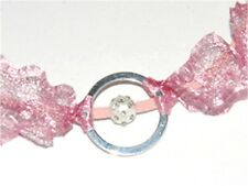 1 METRE DUST PINK METALLIC WIRE MESH RIBBON FROM MENONI ITALY, LIKE WIRELACE