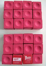 RED MASTER BILLIARD CUE CHALK, 2 DOZEN, (24 piece)