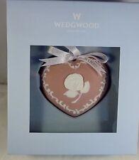 Wedgwood Wedgwood Christmas Ornament Pink Heart Orn Breast Cancer 588344 Nib