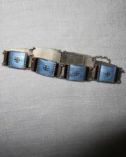 Emaille ARMBAND Niels Erik Elvik Norway 925 Silver Guilloche enamel bracelet