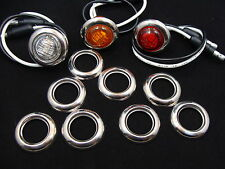 "30-3/4"" Stainless Steel Bezels for Maxxima and other 3/4"" Led Clearance Lights"