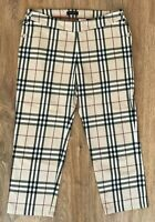 Burberry Girls Kids Teens beige nova check pants size 14 Years (Could fit women)
