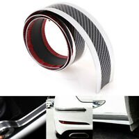 5CM*1M Car sticker carbon fiber rubber door sill protector edge guard strip  UQ