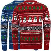 Season's Greetings Men's Snow Paper Nordic Novelty Christmas Xmas Jumper Sweater