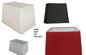 SILKY PYRAMID RECTANGULAR FLOOR LAMP & TABLE LAMP SHADE