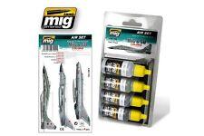 AMMO OF MIG A.MIG-7204 Acrylic Paint Set (4 jars) Mig&SU Fighters Greys 17ml